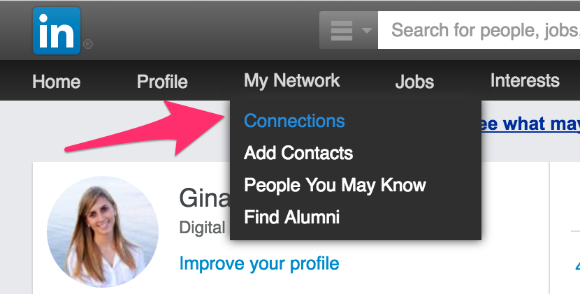 linkedin, my network, connections