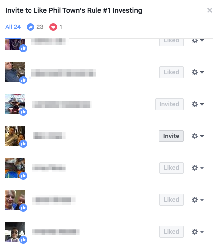 invite people who liked a post to like the business page on facebook