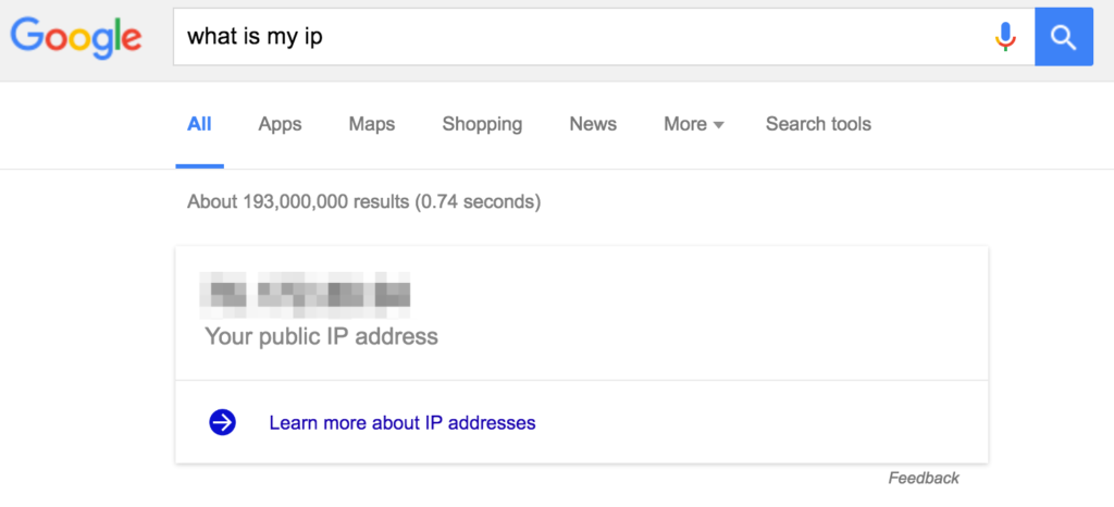 find your ip address in google